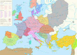 A Map Of The Middle East by Map Of Europe During The High Middle Ages 1000 A D 1600 1143
