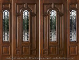 Front Entryway Doors Exterior Double Doors With Sidelights Solid Mahogany Doors