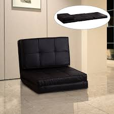 Single Sofa Bed Chair Homcom Futon Single Sofa Bed Brown Aosom Co Uk