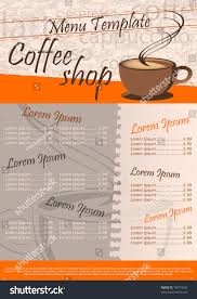coffee shop menu template coffee cafe menu template
