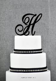 h cake topper personalized monogram initial wedding cake toppers letter h
