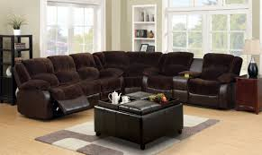 Reclining Sectional Sofas Furniture Of America Cm6556cp Winchester Transitional Brown