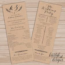 wedding programs rustic rustic wedding programs 12 rustic wedding programs for your