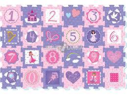 tappeto puzzle disney tappeto puzzle principesse e numeri 24 pezzi juguetilandia