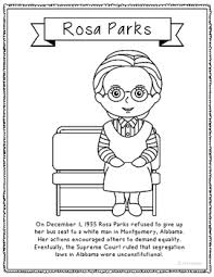 Rosa Parks Coloring Page rosa parks coloring page craft or poster with mini biography civil