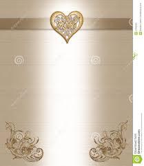 Marriage Anniversary Invitation Card 50th Anniversary Invitation Gold Royalty Free Stock Photos Image