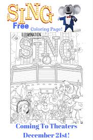 free sing movie coloring page faith and family fun