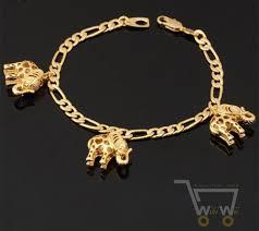 gold plated charm bracelet chain images 18k gold plated link chain lovely elephant bracelet jpg