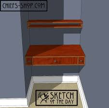 sketch of the day built in desk and shelf chief u0027s shop