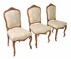 set of six french provincial dining room chairs