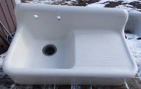 Kitchen Sinks  New York Salvage - Cast iron kitchen sinks with drainboard