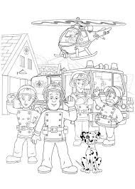 fireman sam fontypandy fire station officer coloring