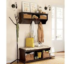 yukon entryway bench with shelf crate and barrel entryway bench