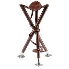 si e canne pliant siège trépied pliable battue peche bois cuir pieds métal