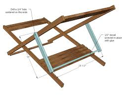 ana white build a wood folding sling chair deck chair or beach chair size free and easy diy project and furniture plans