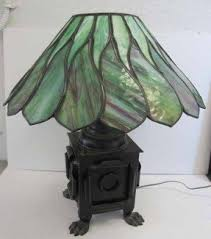 Arts And Crafts Desk Lamp Art Deco Glass Table Lamp Foter