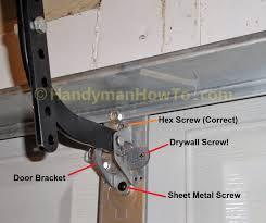 garage door bottom bracket garage door opener mounting bracket on springs for chamberlain