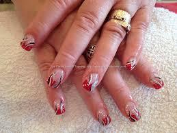 nail design red and white nail arts
