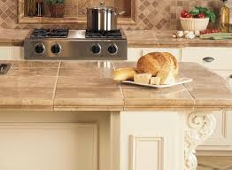 Tile Kitchen Countertop Designs Ceramic Tile Kitchen Countertops Classic Kitchentoday