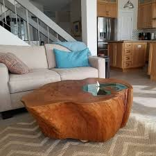 tree trunk coffee table man builds lake coffee table from a 400 year old tree trunk