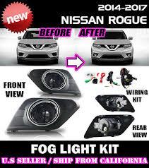 fits 2014 2015 2016 nissan rogue clear fog light lamp kit wiring