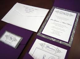 Wedding Invitations Purple Purple And Silver Wedding Invitations Kawaiitheo Com