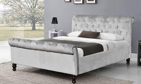 Velvet Sleigh Bed Up To 58 Lambeth Velvet Sleigh Bed Groupon