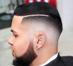haircut with the line men side part hairstyles for men unique shaved haircut line cuts stock