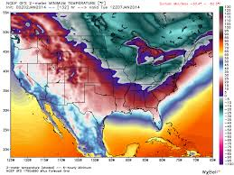 Continental Us Map New Record Low Set In The Coldest City In The Continental Usa
