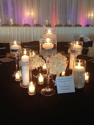 Black And Silver Centerpieces by 155 Best Candle U0026 Submerged Centerpieces Images On Pinterest