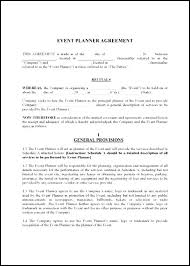 wedding planner contracts event planner contract template tomyumtumweb