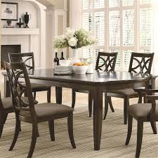 shaker espresso 6 piece dining table set with bench meredith 7 pc dining table set in espresso finish coaster 103531 in