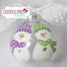 personalized snowman bff ornament for those special