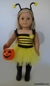 bumble bee and ladybug costume for american dolls sew adollable