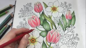 how i color tulip blomstermandala coloring book coloring with