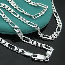 silver chain necklace wholesale images 10pcs wholesale 925 sterling solid silver 30 quot figaro chain jpg