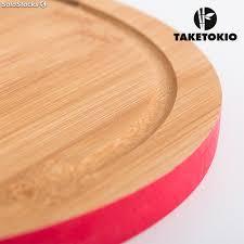 planche de cuisine planche de cuisine circulaire en bambou taketokio