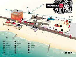 Map Of Long Beach Quiksilver Pro Ny Event Map The Surfers View