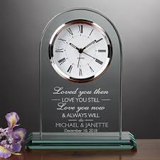 personalized anniversary clocks personalized wedding and anniversary clock i you