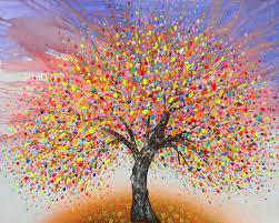 hashtag studio wine design tree painting