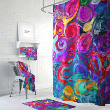 Funky Bathroom Rugs Funky Bath Rugs Chic Color Shower Curtain Optional Bath Mat