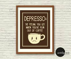 art and home decor depresso coffee cups coffee lover wall art home decor funny art