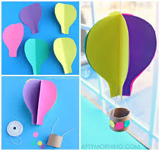 spinning 3d air balloon craft for to make balloon