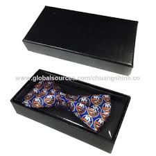 tie box gift china custom luxury black paper bow tie box gift bow from dongguan