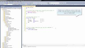 alter table not null 4 modify a column data type using t sql sql server t sql tutorial