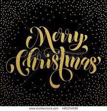 merry christmas modern merry christmas gold foil glitter modern stock vector 490254688