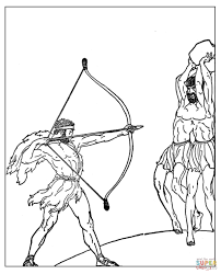 hercules and geryon coloring page free printable coloring pages