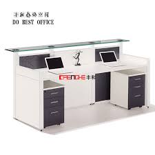 Glass Reception Desk Reception Counter Design Office Furniture Front Desk Salon Front