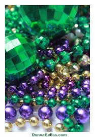 green mardi gras mardi gras bead throws photo