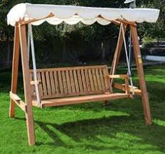 hammock bench outsunny 3 seater larch wood wooden garden swing chair seat